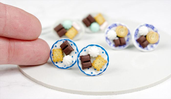 kolczyki ze słodyczami