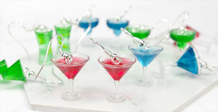 kolczyki drinki