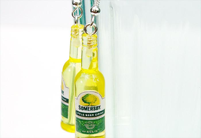 kolczyki butelki