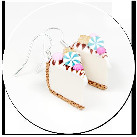 kolczyki sernik z słodyczami nr 3