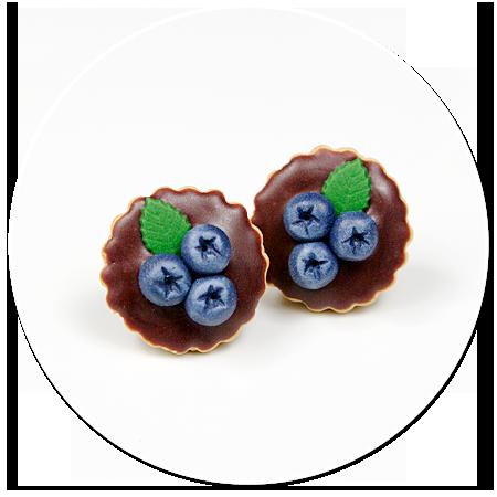 kolczyki wtykane tarty z jagodami nr 4