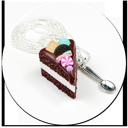 naszyjnik tort czekoladowy nr 6