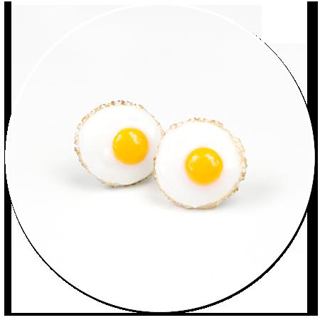 kolczyki wtykane jajka sadzone