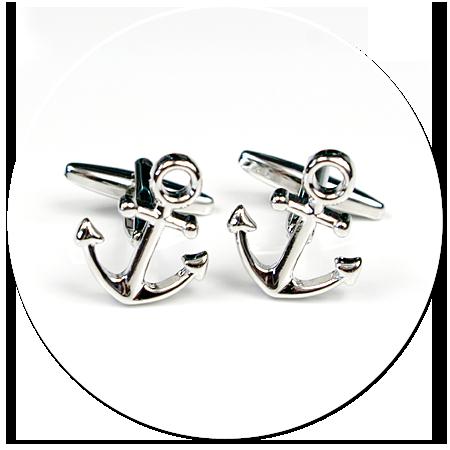 spinki do mankietów dla marynarza (kotwica)