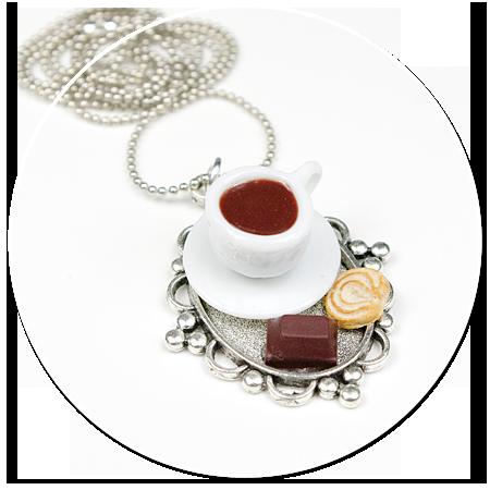 naszyjnik taca z kawą i słodyczami nr 3
