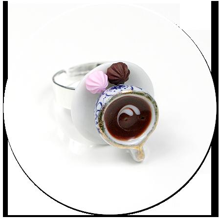pierścionek filiżanka z kawą nr 2