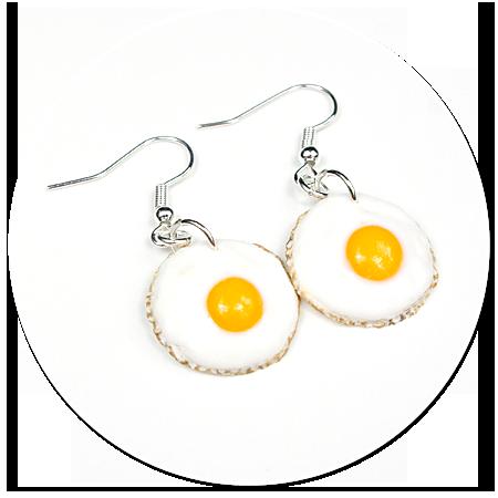 kolczyki wiszące jajka sadzone