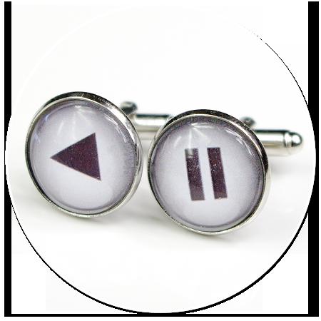 spinki do mankietów przyciski