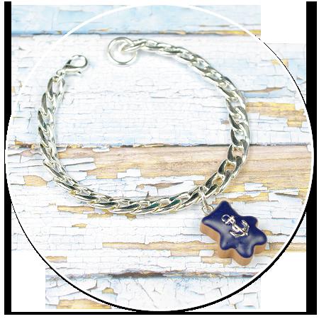 bransoleta łańcuch miś marynarz