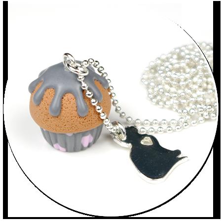 naszyjnik mała babeczka z kotkiem