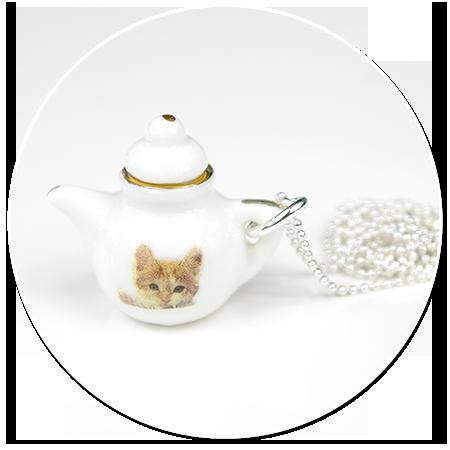 naszyjnik z imbrykiem z kotkiem
