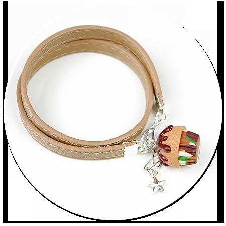bransoletka z babeczką moro