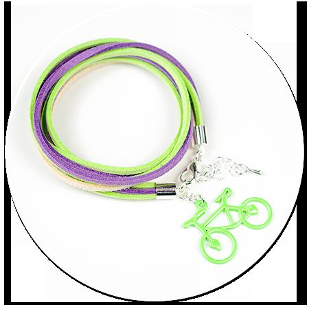 kolorowa bransoletka z rowerkiem nr 2