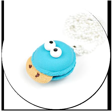 naszyjnik makaronik ciasteczkowy potwór