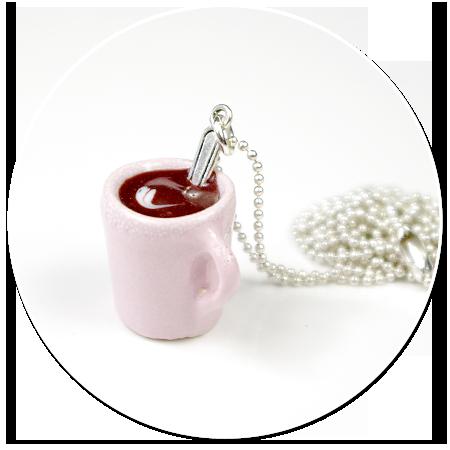naszyjnik kubek kawy