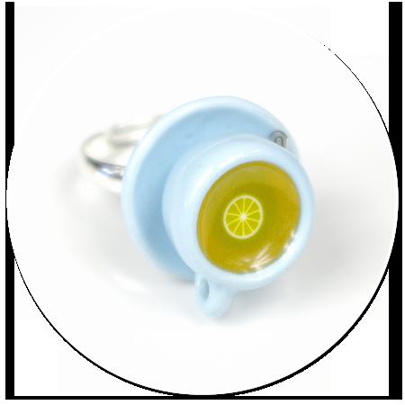 pierścionek pastelowa filiżanka z herbatką nr 3