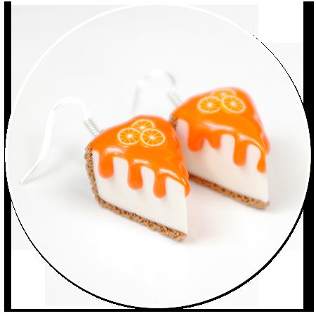 kolczyki pomarańczowy sernik
