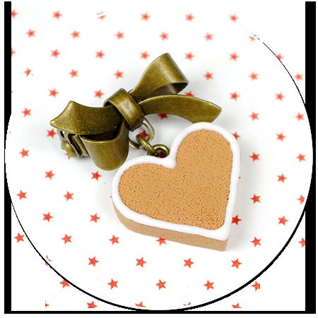 mini broszka świąteczne ciasteczko nr 2