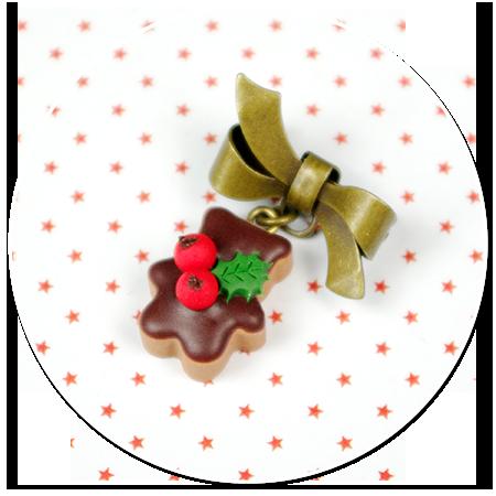 mini broszka świąteczne ciasteczko nr 3