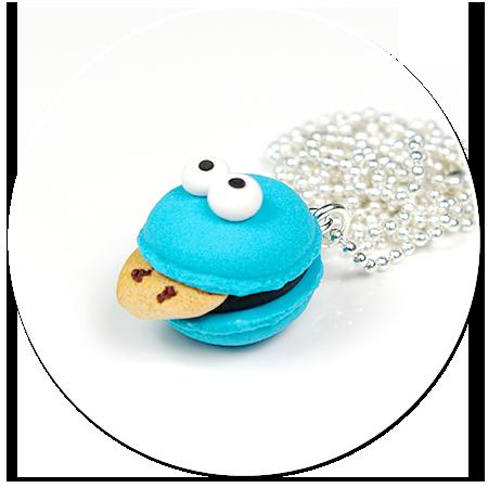 naszyjnik makaronik ciasteczkowy potwór (mały)