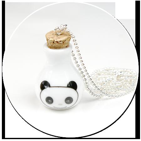 naszyjnik karafka z pandą