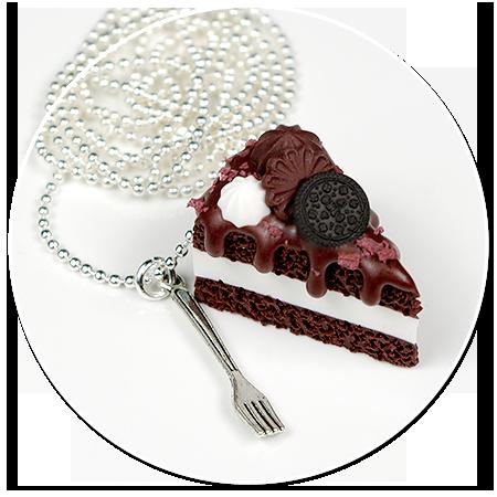 naszyjnik tort czekoladowy nr 7
