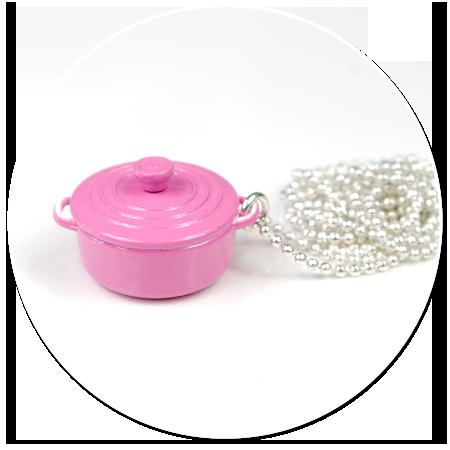 naszyjnik różowy granuszek