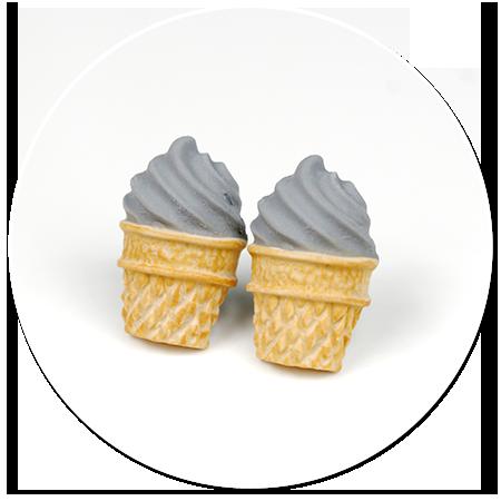 kolczyki wtykane lody włoskie nr 4