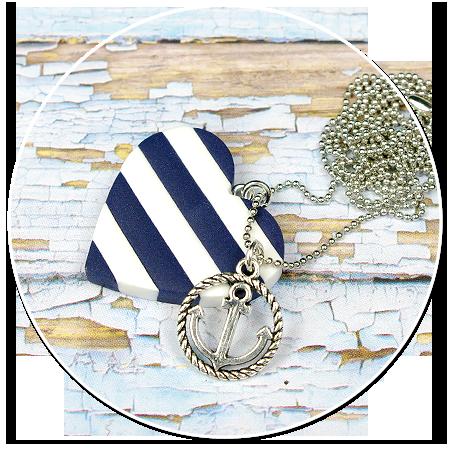 marynarski naszyjnik z serduszkiem nr 2