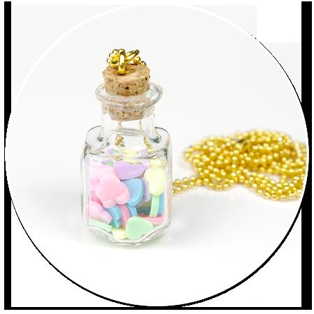 naszyjnik słoik z cukierkami nr 8
