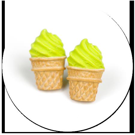 kolczyki wtykane lody włoskie nr 7