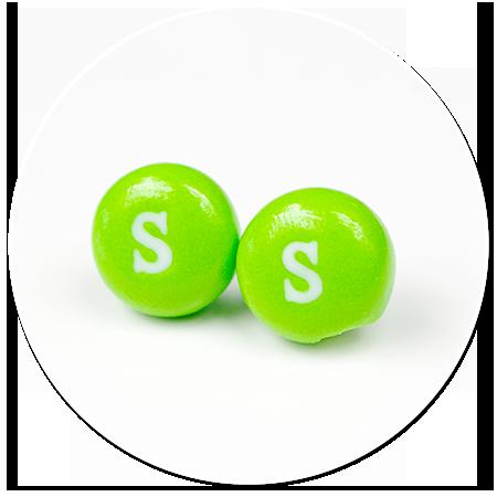 kolczyki wtykane cukierki Skittles nr 4