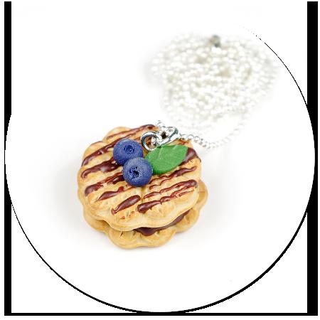 naszyjnik gofry z jagodami