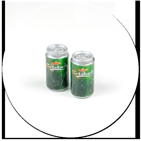 kolczyki wtykane puszki piwa
