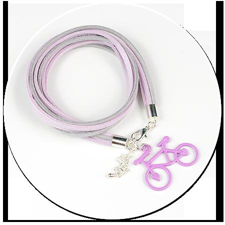 kolorowa bransoletka z rowerkiem