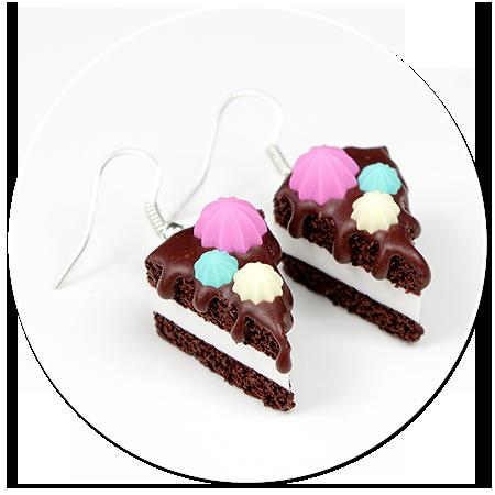 kolczyki torty czekoladowe nr 2