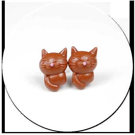 kolczyki wytkane koty nr 3