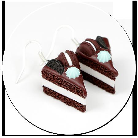 kolczyki torty czekoladowe nr 7