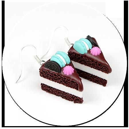 kolczyki torty czekoladowe nr 8