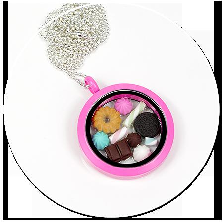 naszyjnik ze słodyczami