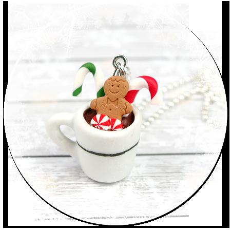 naszyjnik świąteczny kubek z gorącą czekoladą nr 8