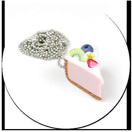 naszyjnik sernik z owocami