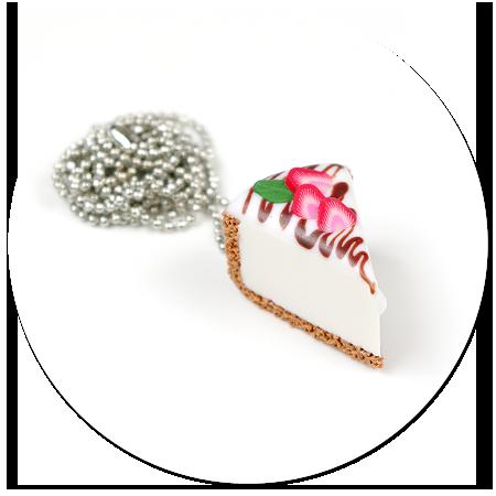 naszyjnik sernik z truskawkami