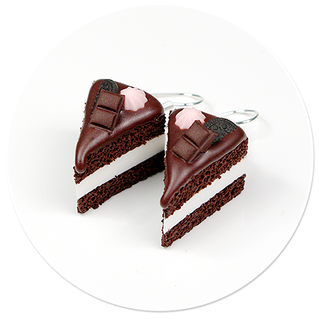kolczyki torty czekoladowe nr 3