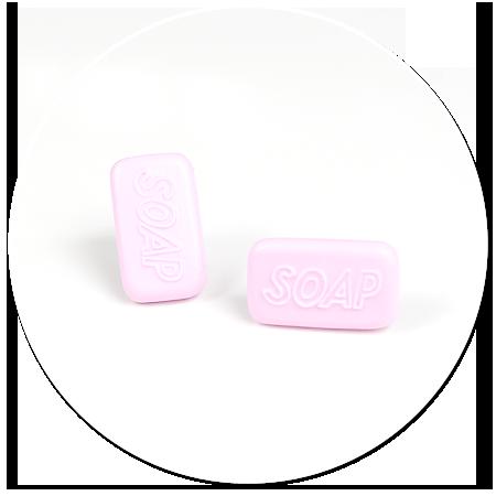 kolczyki wtykane mydełka nr 2
