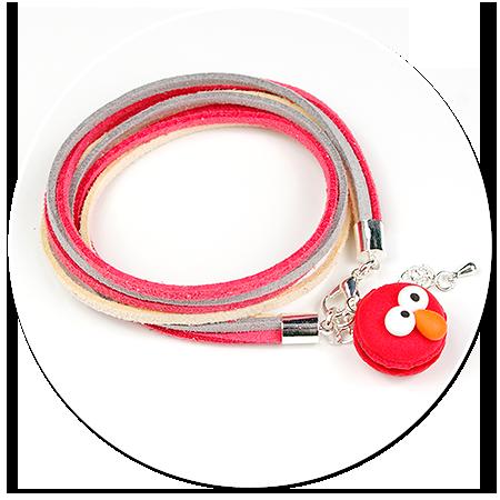 bransoletka z makaronikiem (Elmo)