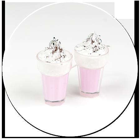kolczyki koktajl mleczny