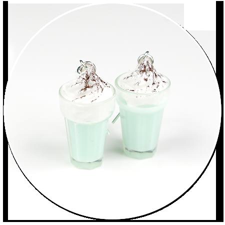 kolczyki koktajl mleczny nr 2