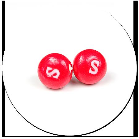 kolczyki wtykane cukierki Skittles nr 2