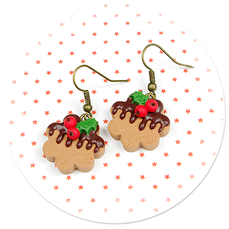 kolczyki świąteczne ciasteczka nr 17